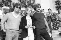 Director Michael Cimino and actors Kris Kristofferson and Isabelle Huppert in Cannes 1980