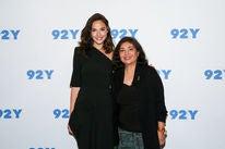 HFPA president Meher Tatna and actress Gal Gadot