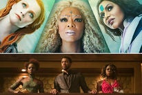 "Scenes from ""A Wrinkle in Time"" and ""Black Panther"""