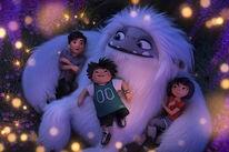 "Chloe Bennet, Albert Tsai, and Tenzing Norgay Trainor in ""Abominable"" (2019)"