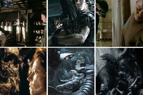 """Scenes from all the """"Alien"""" movies"""