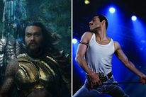 "Scenes from ""Aquaman"" and ""Bohemian Rhapsody"""
