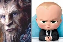 "Beast from ""Beauty and the Beast"" and The Boss Baby"