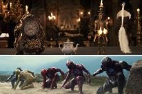 """Scenes from """"Beauty and the Beast"""" and """"Power Rangers"""""""