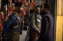 "A scene fom the movie ""Black Panther"""