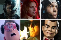 Scenes from Venom, A Star is Born, First Man, Smallfoot, Project Gutenberg and Goosebumps 2: Haunted Halloween