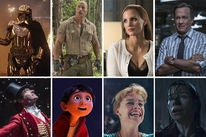 """Scenes from """"Star Wars: The Last Jedi"""", """"Jumanji: Welcome to the Jungle"""", """"Molly's Game"""", """"The Post"""", """"The Greatest Showman"""", """"Coco"""", """"I, Tonya"""", and """"The Shape of Water"""""""