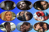 """Scenes from """"It"""", """"mother!"""", """"American Assassin"""", """"Home Again"""", """"War for the Planet of the Apes"""", """"Spider-Man: Homecoming"""" , """"American Made"""", """"Wind River"""" and """"Brad's Status"""""""