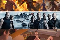 Scenes from Guardians of the Galaxy Vol 2, The Fate of the Furious and The Boss Baby