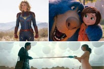 Scenes from Captain Marvel, Wonder Park and Five Feet Apart
