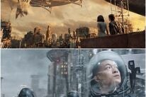 """Scenees from """"Alita: Battle Angel""""and """"The Wandering Earth"""""""