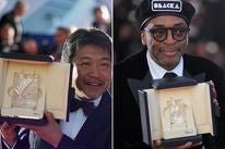 Hirokazu Kore-eda and Spike Lee at Cannes 2018
