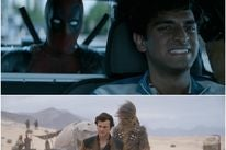 "Scenes from ""Solo, a Star Wars Story"", ""Deadpool 2"""