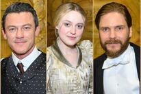 "Actors Luke Evans, Dakota Fanninf and Daniel Bruhl on the set of ""The Alienist - Angel of Darkness"""