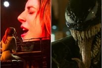 scenes from Venom and A Star is Born