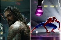 "Scenes from ""Spider-Man into the Spider-Verse"" and ""Aquaman"", 2018"