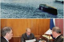 Images from the recovery of the doomed Russian submarine Kursk, 2000-2001