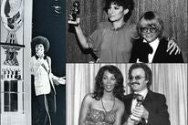Michael Jackson, Barbra Streisand, Paul Williams, Giorgio Moroder, Donna Summer at the Golden Globes