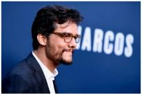 """Actor Wagner Moura, Golden Globe nominee, and a scene from """"Narcos"""""""