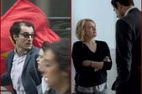 "Scenes from ""Le Redoutable"" and ""The Square"", in Cannes 2017"