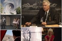 David Lynch and scenes from Twin Peaks: The Return