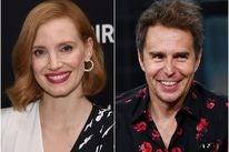 Jessica Chatsain and Sam Rockwell, presenters, Golden Globes 2019