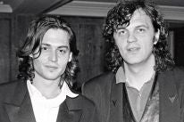 Johnny Depp and Director Emir Kusturica in Cannes 1993