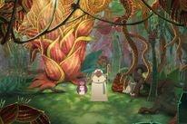 A scene from the animated  movie El LIbro de Lila