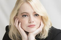 Actress Emma Stone, Golden Globe winner