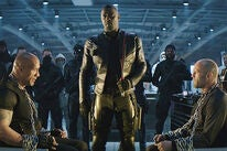 Dwayne Johnson, Idris Elba and Jason Statham in Fast & Furious Presents: Hobbs & Shaw