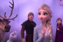 "Kristen Bell, Idina Menzel, Josh Gad, and Jonathan Groff in ""Frozen II"" (2019)"
