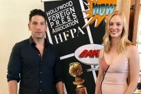 Actors Jon Bernthal and Deborah Ann Moll at Comic-Con 2017