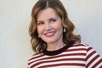 Actress and producer Geena Davis, Golden Globe winner