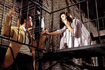"""Natalie Wood and Richard Beymer in a scene from  """"West Side Story"""