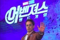 Actor Robert Downey Jr in South Korea
