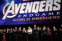 Cast and directors of Avengers: Endgame at the LA Premiere