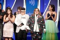 "Cast and crew of ""Vida"" accept an award at GLAAD Media 2019"