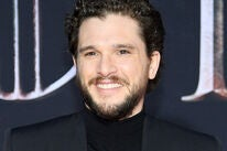 Actor Kit Harington at the premiere of season 8 of Game of Thrones