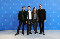 """Cast, writer and director of """"The Intruder"""", 2020, at Berlin"""