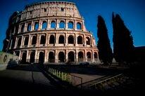 Empty Colosseum, Rome, 2020
