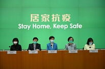 Hong Kng Authorities give a press conference on COVID-19