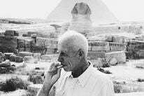 "Director Howard Hawks in Egypt, shooting ""Land of the Pharaohs'"
