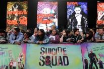 """Fans line up at the European premiere of 'Suicide Squad"""", in London"""
