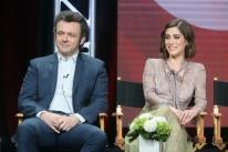 """Lizzy Caplan and Michael Shee, stars of the TV series """"Masters of Sex"""""""