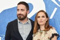 Director Pablo Larrain and Natalie Portman, Golden Globe winner, in Venice 2016
