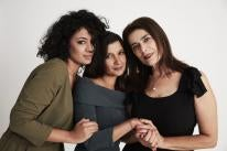 Raja Amari, and the actresses of 'Foreign Body""