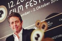 Hugh Grant, Golden Globe winner, recieved the Golden Icon award at the Zurich Film Festival 2016