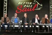 Writer-producers Vince Gillingan and Peter Gould and actors Bob Odenkirk,Jonathan Banks and Michael McKean