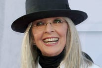 Actress Diane Keaton, Golden Globe winner