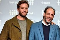 Actor Armie Hammer and director Luca Guadagino at Toronto FF 2017
